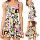 Clubwear Galaxy MILK Cartoon Animate Printed Skater Reversible Short Dress New
