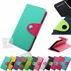 Two Tone Leather Wallet Case Cover Stand Magnetic Flap Card Slot For Blackberry