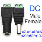 2/4/6/50xDC Power Jack Adapter Plug Male Female Connector 2.1x5.5mm for CCTV Lot