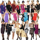 New Ladies Adult Fringe Flapper Jazz 20s 30s Fancy Dress Costume Chicago Moll
