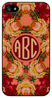 Personalized Monogram Vintage Roses Floral case for Iphone 4 4s 5 5s 5c M220