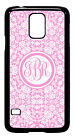 Personalized Monogram Floral Lace Pink for Samsung Galaxy S3 S4 S5 Note 2 3 M223
