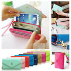 Crown Wristlet Leather Wallet Case Cover For Samsung Galaxy Prevail 1 2 II Ring