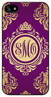 Personalized Monogram Royal Romance Purple case for Iphone 4 4s 5 5s 5c M240