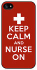 Keep Calm and Nurse On Red case cover for Iphone 4 4s 5 5s 5c