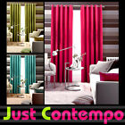 PLAIN COTTON CANVAS CURTAINS Luxury Eyelet Ring Top Ready Made Lined Curtain