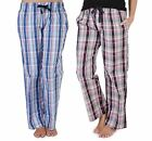 Womens Nightwear Check Print Lounge Pants With Elasticated Waist & Draw Strings