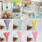 25 Pc Multi Color Striped Biodegradable Paper Drinking Straws Wedding Decoration