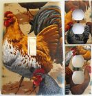 Roosters all over custom Light Switch wall plate covers man cave room decor