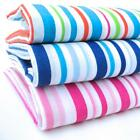STRIPES  - POLY COTTON FABRIC  BLUE PINK AND MULTI  45""