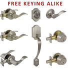 Madison Satin Nickel Door Lever Knob Hardware