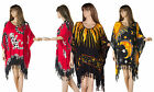 New Ladies Long Tunic Kaftan Poncho Dress Red Plus Size XXl 18 26 Boho