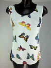 new womens ladies celeb summer butterfly hi lo hem sleeveless top