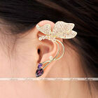 1Pc Rhinestone Crystal Butterfly Ear Cuff Wrap Clip Women's Earring Jewelry Gift