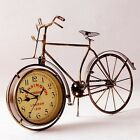 Retro Vintage Metal Bicycle Bike Clock Home Decoration Table Clock Ornament