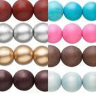 4 Big Colored 20mm Round Natural Wooden South Sea Smooth Wood Beads