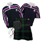 Sports Kit Essential Kilt Package - Purple Stripe Rugby Top - Black Watch