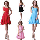 NEWEST HOT SEXY Women 1 Shoulder Mini Bridesmaid Banquet Pageant Prom Club Dress
