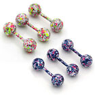 18G Bar Barbell Ball Tragus Cartilage Candy Color Stud Earrings Stainless Steel