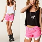 Women Summer Loose Casual V Neck Sleeveless Vest Shirt Tops Blouse Ladies Top