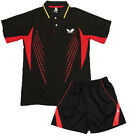 Free 2014 NWT Table Tennis butterfly men's Shirt+short PING PONG CLOTHES