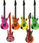 LARGE INFLATABLE BLOW UP AIR GUITAR ROCK & ROLL PARTY BIRTHDAY FANCY DRESS 106CM