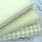KENT 2 GREEN YARN DYED GINGHAM - 9mm 3mm 1mm CHECK COTTON FABRIC bunting