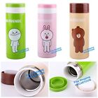 JAPAN LINE APP CHARACTERS CONY MOON BROWN 300ML STAINLEES STEEL VACUUM BOTTLE