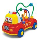 Megcos 2-IN-1 EMERGENCY VEHICLE Fire Engine/Police Car (Lights & Sounds) ~NEW~