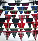 LOVELY SCOTTISH TARTAN / CHECK BUNTING 10 FEET LONG.Made in Scotland