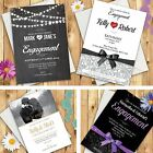 100 Personalised Engagement Invitations ★ Party Invites With Envelopes