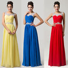Sexy Long Chiffon Evening Ball Gowns Dance Prom Formal Wedding Bridesmaid Dress