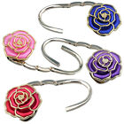 Foldable Zinc alloy Bag Purse Handbag Hook Hanger Holder -Rose Stylish Shaped AA