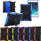 HEAVY DUTY SHOCK PROOF BUILDERS HARD CASE COVER WITH STAND FOR APPLE TABLETS