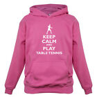 Keep Calm and Play Table Tennis - Kids / Childrens Hoodie - Player - Ping Pong