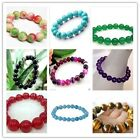 9 colors 8MM beautiful jade bracelet 7.5 ""