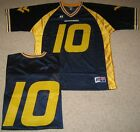 West Virginia Mountaineers Football Jersey Navy 10 by Russell