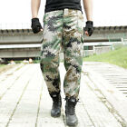 Military Tactical Combat Pants Woodland Camouflage Men's Army Training Overalls