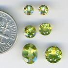 PERIDOT Faceted Gemstones - Ovals and Rounds - you select size/shape
