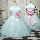 USM2D57 Pink Evening Christmas Flower Girl Dress 1,2,3,4,5,6,7,8,9,10,11,12,13