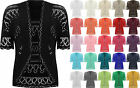 New Plus Womens Crochet Knitted Short Sleeve Ladies Shrug Cardigan Top 20-26