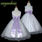 USM3D59B Lilac Full Length Christmas bridesmaid Flower Girl Dress 1 to 13Yrs