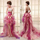 Sequins Beaded Hi-low Ruffled Colorful Party Prom Gowns Girls Formal Dresses Hot