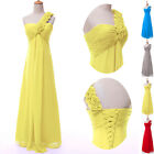 ON SALE!! One Shoulder Wedding Party Gown Evening Bridesmaid Cocktail Long Dress