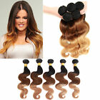 "US hot 1-3Bundles Ombre Human Hair Extension12""-22"",3tones1b33#27#,Body Wave Hot"