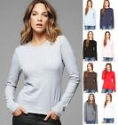 B6500 Bella+Canvas Womens Long Sleeve Crew Neck Jersey Tshirt T-Shirt New!!