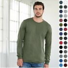 Bella+Canvas Mens Long Sleeve Crew Neck Jersey Tshirt T-Shirt 3501-31 Colors-New