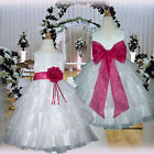 USM1D75 Fuchsia Pageant Christmas Formal Communion Kids Girl Dress Age 1 to 14