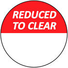 30mm Red Reduced To Clear Blank Sale Price Stickers / Sticky Swing Tag Labels