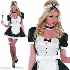 Adults Women's Sexy French Maid Hen Night Fancy Dress Party Costume